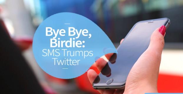 Bye Bye, Birdie: SMS Trumps Twitter
